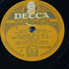 "78rpm 12"" ODA SLOBODSKAYA rachmaninoff lilacs / how lovely / the statue RVW 106"