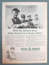 Dated 1960 Cities Servic Ad Photo Endorsed by Stewart Family of Springfield Ohio