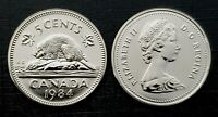 Canada 1984 Proof Like Gem Five Cent Nickel!!