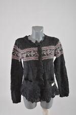 Odd Molly Fluffy & Cosy Womens Warm Cardigan Gilet Size 2 Fits Around S M