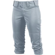 Rawlings Women's Large Fastpitch Gray Low Rise Softball Pants WRB150-BG-90 New