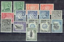 Aden 1953 QEII lot to 10s black includes both 1/25c,  very fine mint