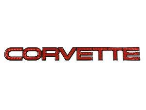 1984-1990 Corvette Rear Poly Letters Hologram Red