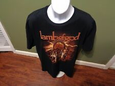 LAMB OF GOD Band Crow Skeleton FEATHERS  Black T-Shirt SIZE 2XL