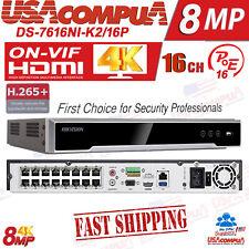 HIkvision Network Recording 8MP NVR 16 PoE 2 SATA (NO HARD DISK)  H.265+
