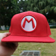 Super Mario M Logo embroidery Baseball Cap Mens Fashioin Adjustable Hat Snapback
