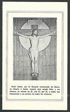 Estampa antigua de Jesus andachtsbild santino holy card santini