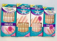 ~ Four Boxes~ Nailene Color Express Nails~French Opal & Americana~