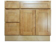 Kingway 36-inch Vanity Cabinet with Left Drawers Elegant Maple
