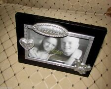 "Grandkids Little Angels photo frame by Fetco 4"" X 6""  Pewter and Black #180364"