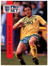 David Phillips Norwich City #162 Pro Set Football 1990-1 Trade Card (C363)