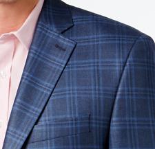 Lauren Ralph Lauren Blazer Size 50L Men Silk Suit Jacket Sport Coats Windowpane