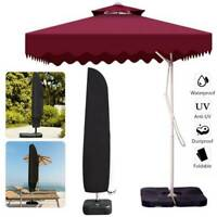 Parasol Banana Umbrella Cover Cantilever Outdoor Garden Patio Shield Waterproof.