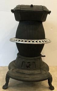 Antique Keeley Belle 10 potbelly stove Very Clean