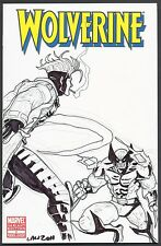 WOLVERINE #1 VARIANT WOLVERINE & GAMBIT Marvin Law SKETCH COA