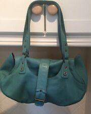 BELLISSIMO paese CASUALS Green Leather Shoulder bag appena usato buone condizioni
