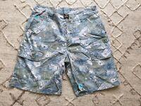 Airwalk Mens Printed Cargo shorts Size L / 34