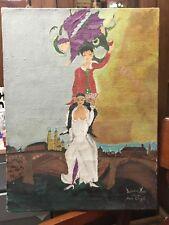d'après Marc Chagall tableau HST copie ancienne signé Adienne Mirto