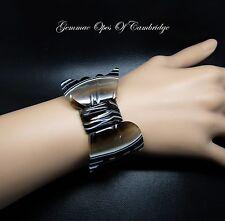 "Victorian 7"" Bow Banded Agate Bracelet 37g"