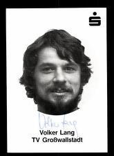 Volker Lang Autogrammkarte TV Großwallstadt 80er Jahre Original Sign+A 161121