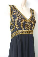Indian Summer Silk Dress, Designer Indian SummerSilk Dress, Empire Line Dress L