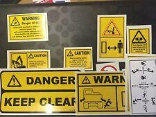Dumper and Mini Excavator Sticker Kits