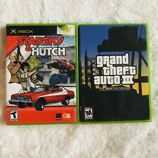 Grand Theft Auto III (GTA3) and Starsky & Hutch Microsoft Xbox  Complete CIB