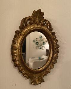 Vintage Ornate Gilt Italian Florentine Wall Mirror Antique Handmade Italy