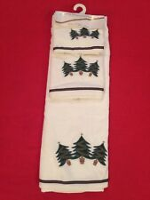 NEW w/tags - 3pc Christmas Trees Embellished Towel Set - by Stratford Home