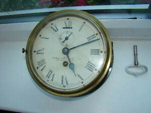 antique ships clock Lilley & Reynolds Ltd London 8 day working order