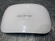 Maplin N68KH blanco atractivo portátil 4 puertos USB 3.0 Hub-ningún Adaptador de CA