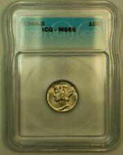 1944-S Silver Mercury Dime 10c Coin ICG MS-66 B Toned