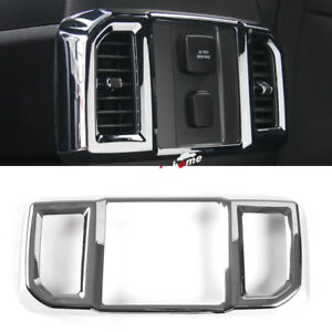 For Ford F150 F-150 2015-2020 ABS Chrome Inner Rear Air Outlet Vent Cover Trim