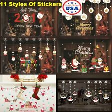 Merry Christmas Holiday Wallpaper Sticker Home Window Decor Store Glass Door