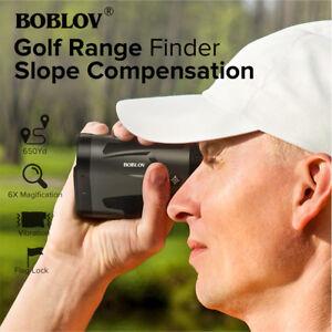 BOBLOV LF600AG 6X Golf Hunting Range Finder + Slope Flag-Lock 600m Telescope