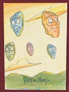 Rick and Morty Cryptozoic Season 2 Sketch Card Emanuel Braga 1/1