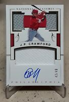 2018 National Treasures Gold J.P. CRAWFORD Rookie Triple Patches Autograph /49