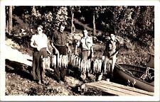 Real Photo Postcard Men & Women with Fishing Catch in Spirit Lake, Iowa~132096