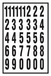 Hy Ko MM 7N 2  Black   White Vinyl Self Stick Numbers