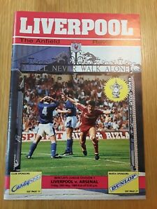That Match, Division 1 Decider Liverpool v Arsenal Friday 26th May 1989