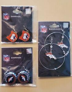 Denver Broncos 3 Pair Earrings