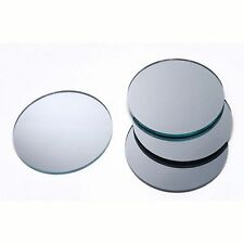 2 inch ROUND SILVER Glass Mirrors - 4 count -great for mosaic focal and jewelry