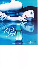 PUBLICITE ADVERTISING 1995   CACHAREL  parfum  LOULOU  BLUE               150313