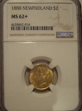 Canada Newfoundland 1888 $2 Gold - NGC MS-62+