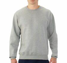 New Men's  Fleece Crew Neck  Sweatshirts Pullover Grey Size M,L,& 5X