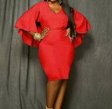 Batcape Dress XL/ XXL  Red