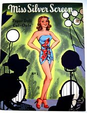 """1946 """"Miss Silver Screen"""" Paper Dolls - Uncut - Great Condition*"""