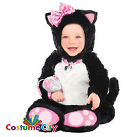 Baby Infant Toddlers Itty Bitty Kitty Cat Halloween Fancy Dress Party Costume