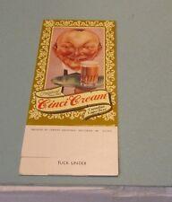 Cinci Cream Canadian Lager Beer Handsome Waiter Standup Advertising Card Unused
