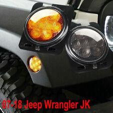 LED Side Marker Fender Lights Smoked Lens For Jeep Wrangler JK 2007-2018
